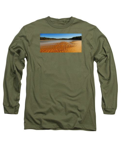 Long Sleeve T-Shirt featuring the photograph Golden Sand 01 by Kevin Chippindall