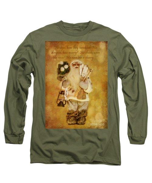 Golden Santa Card 2015 Long Sleeve T-Shirt
