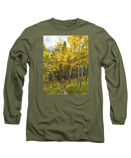 Golden Solitude Long Sleeve T-Shirt by Anne Gifford