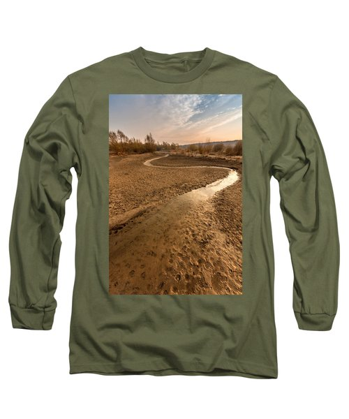 Long Sleeve T-Shirt featuring the photograph Golden Stream by Davorin Mance