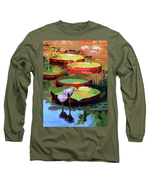Golden Sunlight Reflections Long Sleeve T-Shirt by John Lautermilch