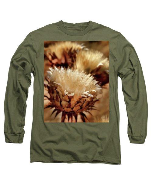 Long Sleeve T-Shirt featuring the digital art Golden Thistle II by Bill Gallagher