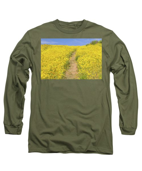 Long Sleeve T-Shirt featuring the photograph Golden Trail by Marc Crumpler