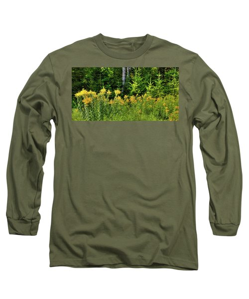 Long Sleeve T-Shirt featuring the photograph Goldenrod In The Adirondacks by David Patterson