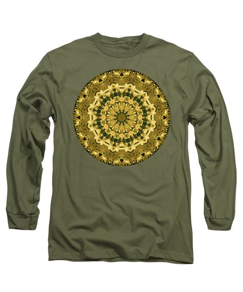 Goldenrod Mandala -  Long Sleeve T-Shirt