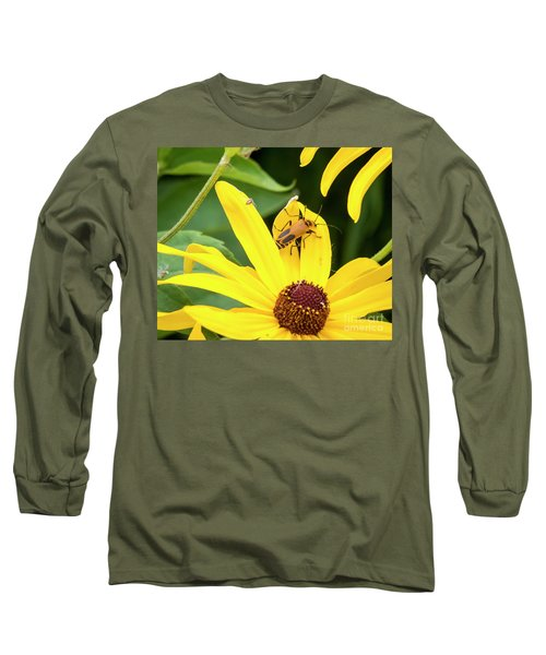 Long Sleeve T-Shirt featuring the photograph Goldenrod Soldier Beetle by Ricky L Jones