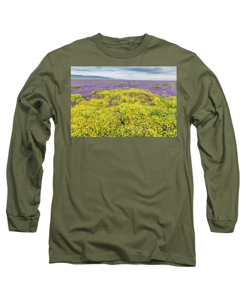 Long Sleeve T-Shirt featuring the photograph Goldfield And Phacelia by Marc Crumpler