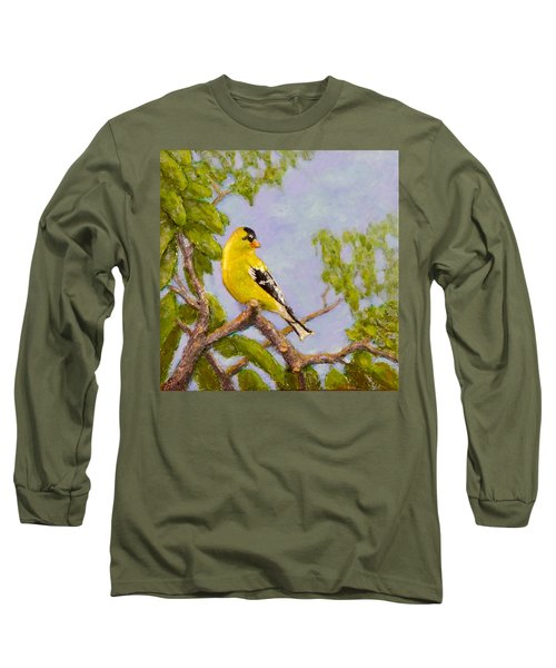 Goldfinch Long Sleeve T-Shirt by Joe Bergholm