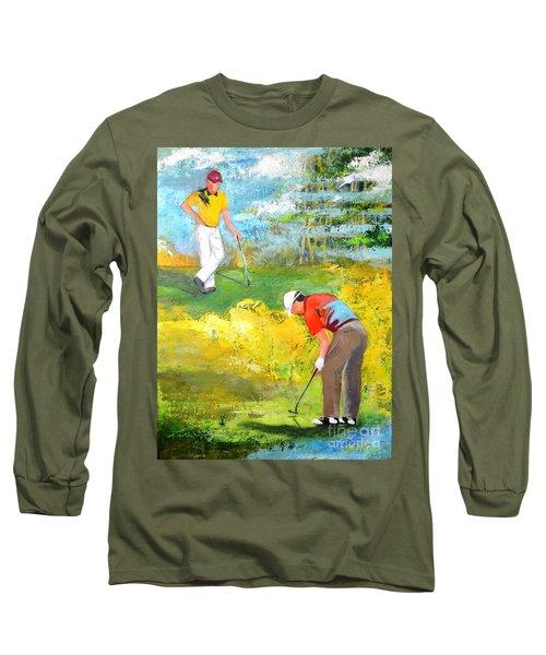 Golf Buddies #2 Long Sleeve T-Shirt by Betty M M Wong