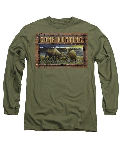 Gone Hunting - Locked At Lac Seul Long Sleeve T-Shirt