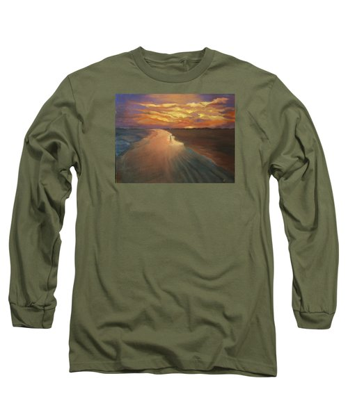 Long Sleeve T-Shirt featuring the painting Good Night by Alla Parsons