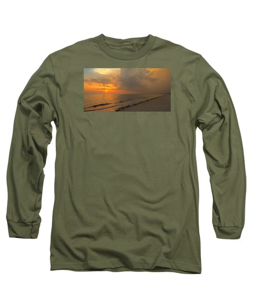 Good Night Sun Long Sleeve T-Shirt by Sean Allen