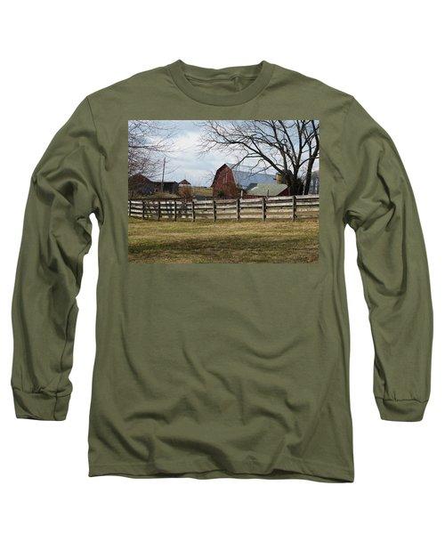 Good Old Barn Long Sleeve T-Shirt by Donald C Morgan