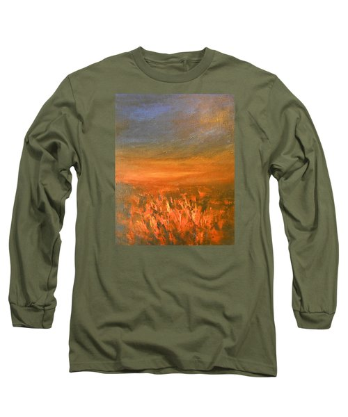 Long Sleeve T-Shirt featuring the painting Goodbye by Jane See