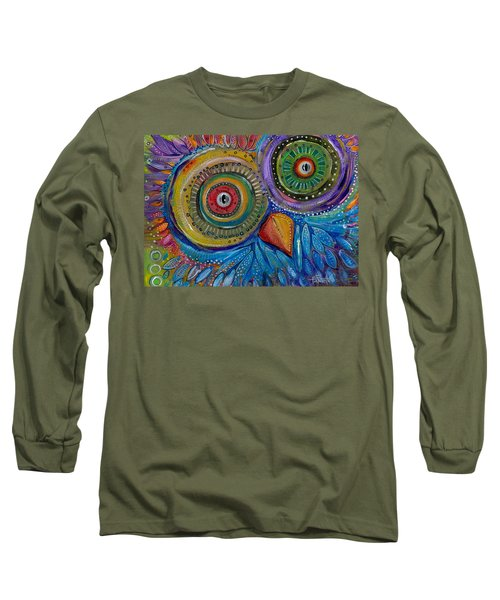 Googly-eyed Owl Long Sleeve T-Shirt