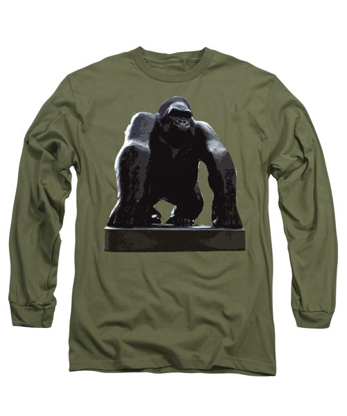 Gorilla Art Long Sleeve T-Shirt by Francesca Mackenney