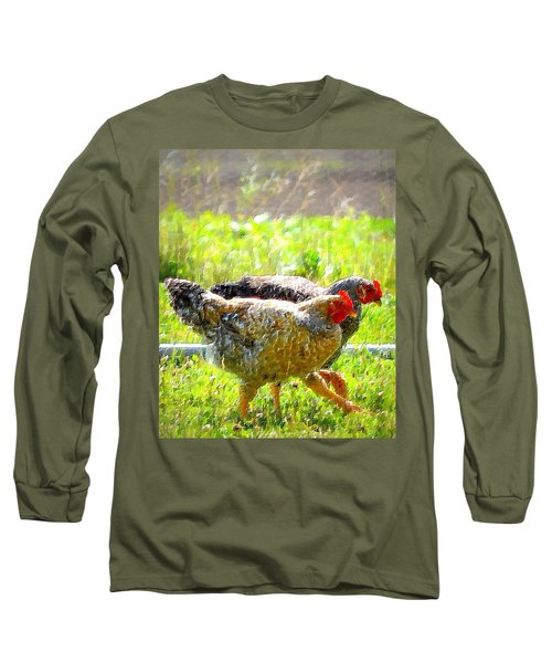 Long Sleeve T-Shirt featuring the photograph Gossip Girls by Barbara Dudley