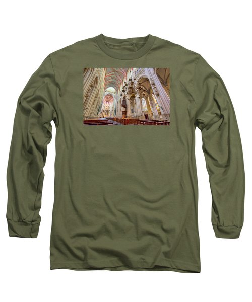 Gothic Cathedral  Long Sleeve T-Shirt by Nadia Sanowar