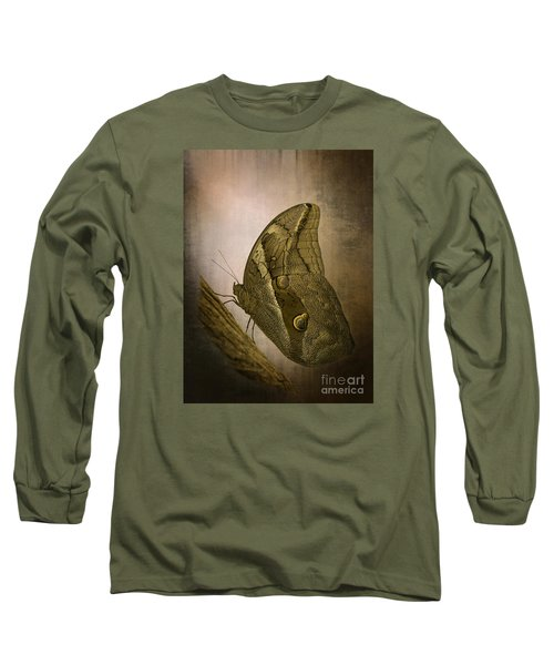 Long Sleeve T-Shirt featuring the photograph Graffic Owl Butterfly by Inge Riis McDonald