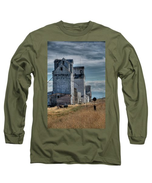 Grain Elevators, Wilsall Long Sleeve T-Shirt