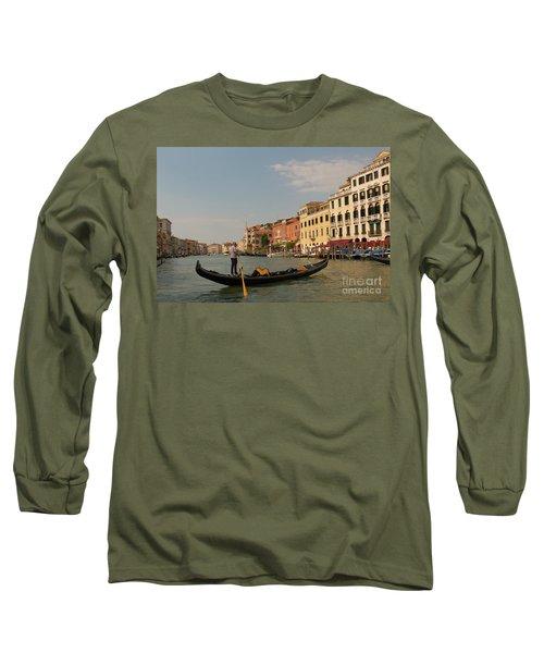 Grand Canal Gondola Long Sleeve T-Shirt by Loriannah Hespe