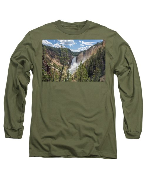 Grand Canyon Of Yellowstone Long Sleeve T-Shirt by Alpha Wanderlust