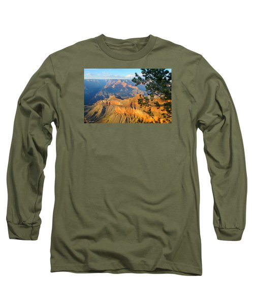 Grand Canyon South Rim - Pine At Right Long Sleeve T-Shirt