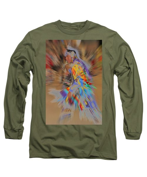 Grand Entry Moves Long Sleeve T-Shirt by Audrey Robillard