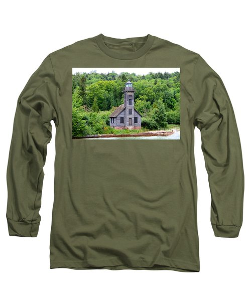 Long Sleeve T-Shirt featuring the photograph Grand Island East Channel Lighthouse #6549 by Mark J Seefeldt