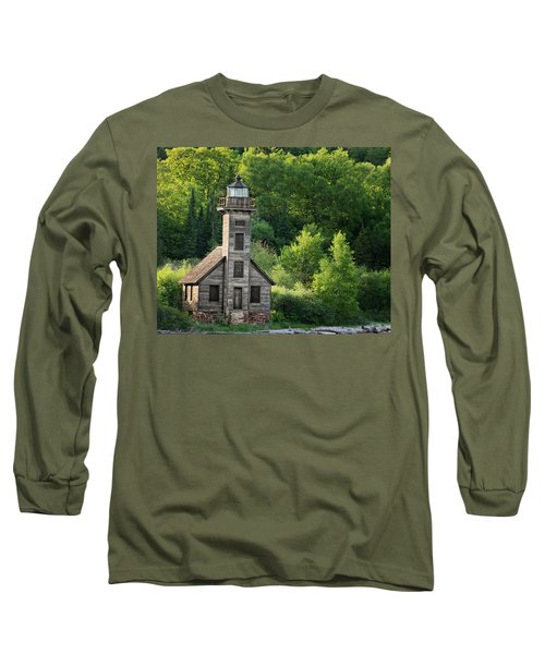 Grand Island Light House In Spring Long Sleeve T-Shirt
