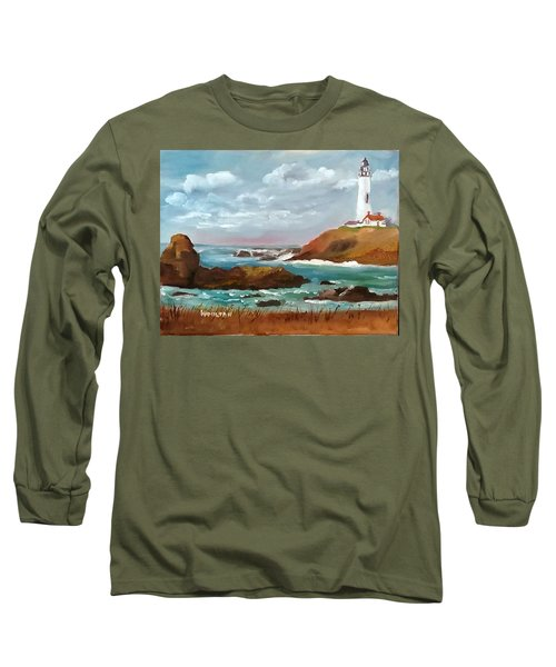 Grand Lighthouse Long Sleeve T-Shirt by Larry Hamilton
