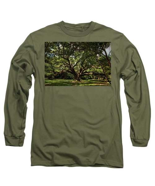 Grand Oak Tree Long Sleeve T-Shirt by Judy Vincent