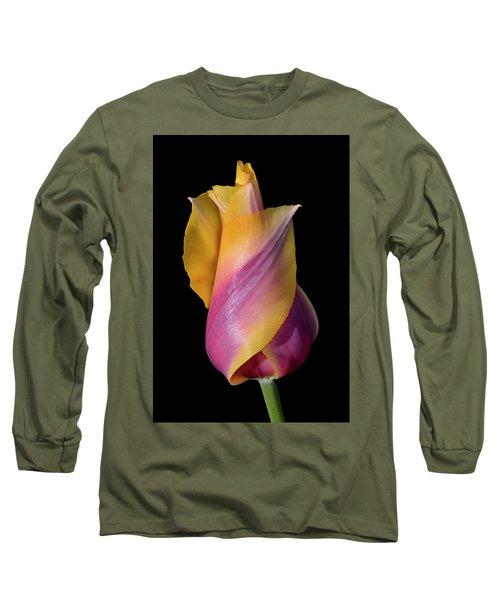 Grand Opening - Purple And Yellow Tulip 001 Long Sleeve T-Shirt