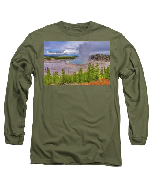 Grand Prismatic Spring Overlook Yellowstone Long Sleeve T-Shirt