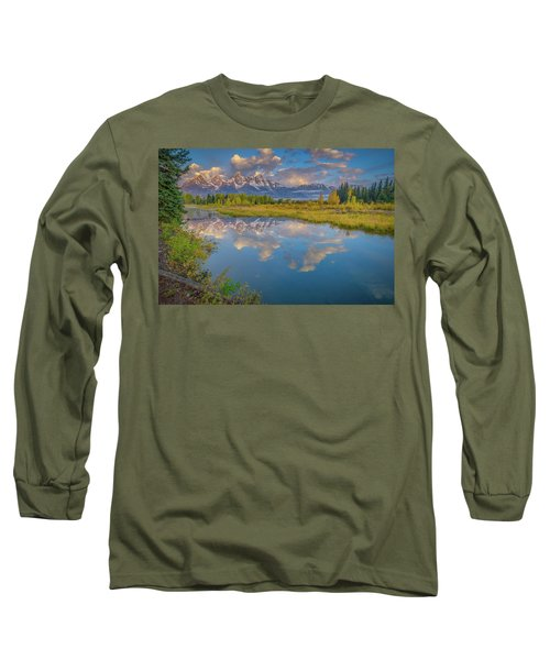 Grand Teton Morning Reflection Long Sleeve T-Shirt