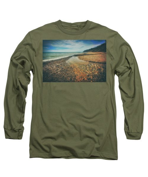 Grant Park - Lake Michigan Beach Long Sleeve T-Shirt by Jennifer Rondinelli Reilly - Fine Art Photography