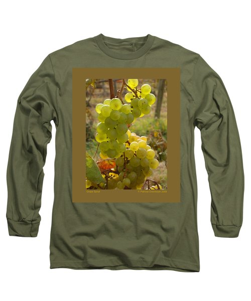 Grape Spiral Long Sleeve T-Shirt by Patricia Overmoyer