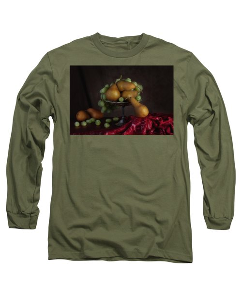 Grapes And Pears Centerpiece Long Sleeve T-Shirt