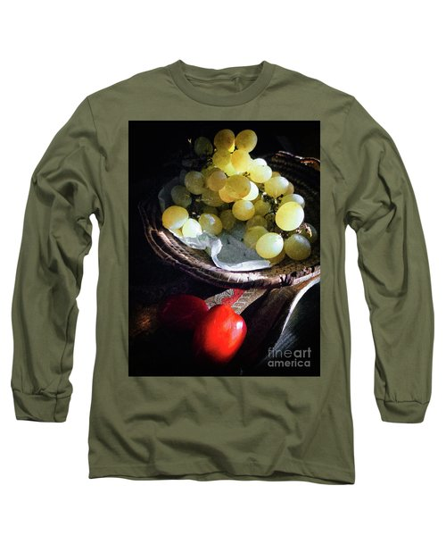 Long Sleeve T-Shirt featuring the photograph Grapes And Tomatoes by Silvia Ganora