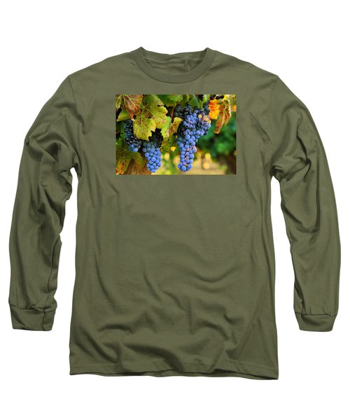 Long Sleeve T-Shirt featuring the photograph Grapes Grapes Grapes by Lynn Hopwood