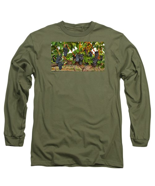 Long Sleeve T-Shirt featuring the photograph Grapes Of The Yakima Valley by Lynn Hopwood