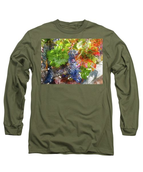 Grapes On The Vine In The Autumn Season Long Sleeve T-Shirt