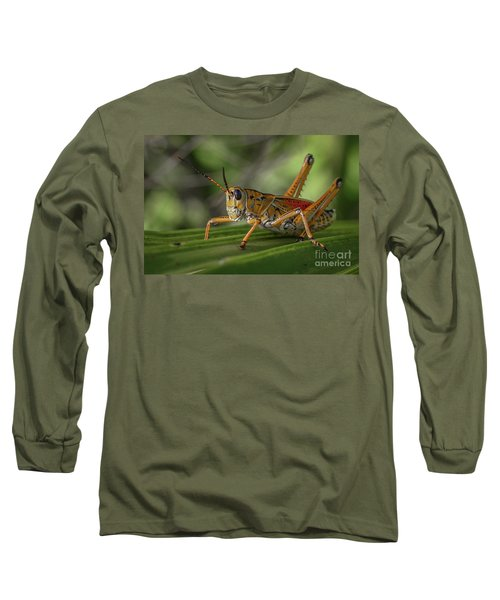 Grasshopper And Palm Frond Long Sleeve T-Shirt