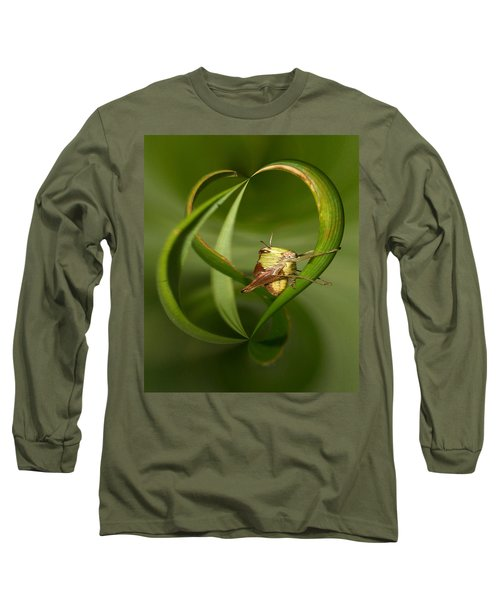 Long Sleeve T-Shirt featuring the photograph Grasshopper by Jouko Lehto