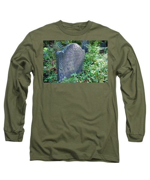 Long Sleeve T-Shirt featuring the photograph Grave Of Mary Hall by Wayne Marshall Chase