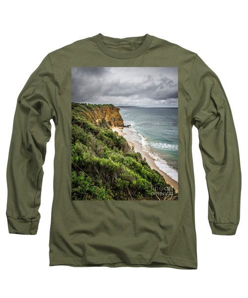 Long Sleeve T-Shirt featuring the photograph Gray Skies by Perry Webster