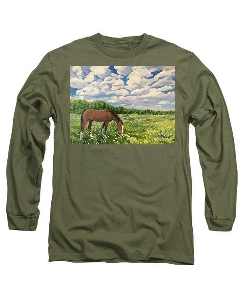 Grazing Among The Daisies Long Sleeve T-Shirt