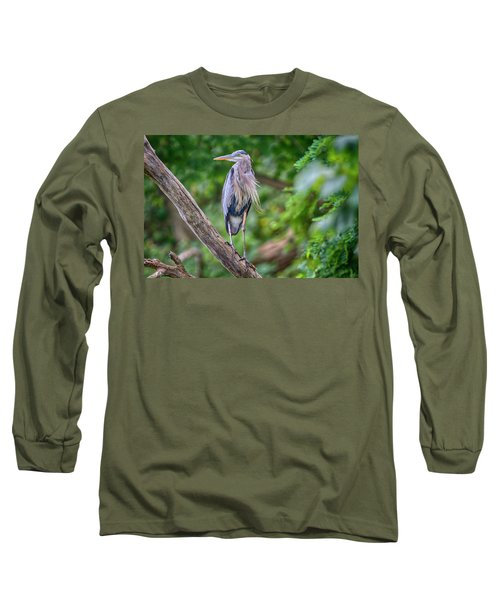 Great Blue Heron 2 Long Sleeve T-Shirt