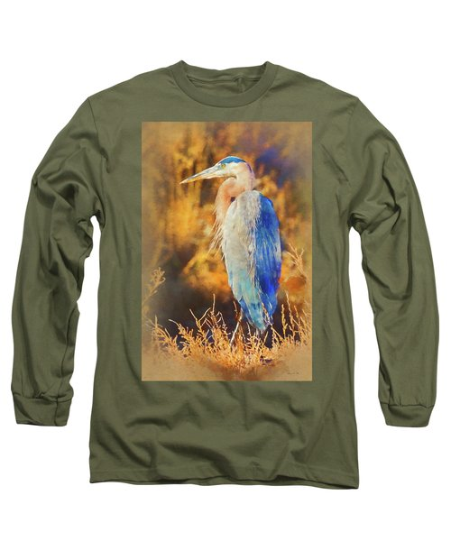 Long Sleeve T-Shirt featuring the photograph Great Blue Heron by Bellesouth Studio