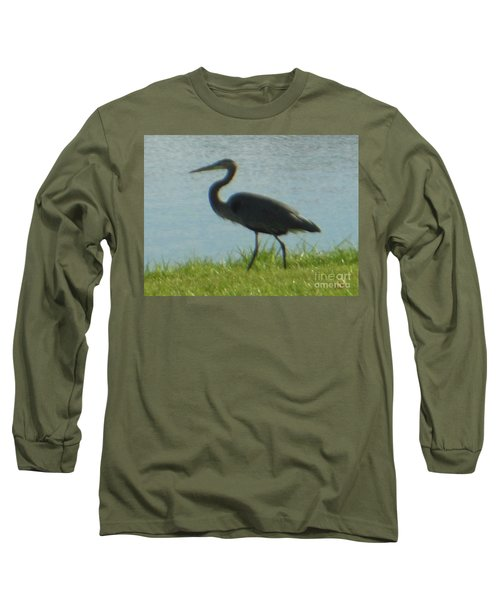 Long Sleeve T-Shirt featuring the photograph Great Blue Heron by Rockin Docks Deluxephotos